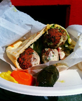 Vegan-Friendly Mobile Falafel Food Truck