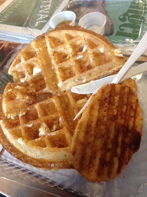 vegan chickn and waffles