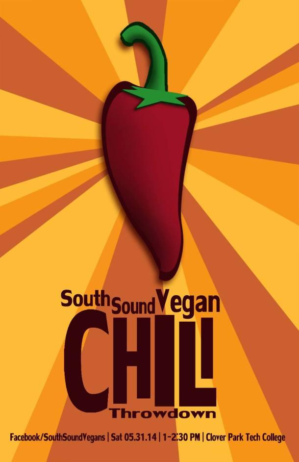 South Sound Vegan Chili Throwdown Poster