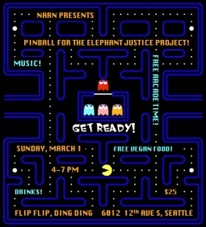Vegan Pinball Party for Elephants